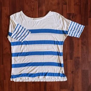 3/$25 Gap dolman sleeve tee blue white stripe